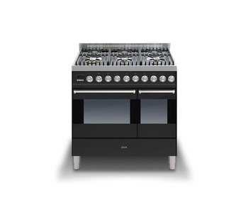 Ilve KD-906-MP-BK Cookers Range Cookers 90cm
