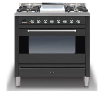 Ilve P-90F-MP-GRA Cookers Range Cookers 90cm