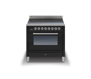 Ilve PWI-90-E3-BK Cookers Range Cookers 90cm